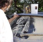 dessin sur pare-brise de voiture pleine de poussière 18